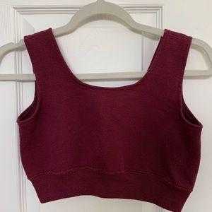 UO sweatshirt bra + crop top